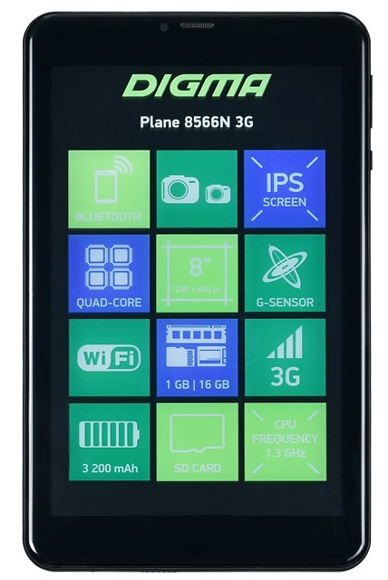 Планшет Digma Plane 8566N 3G
