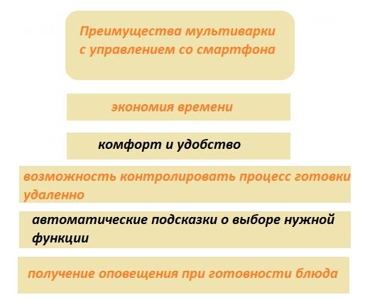 Преимущества мультиварки с управлением со смартфона