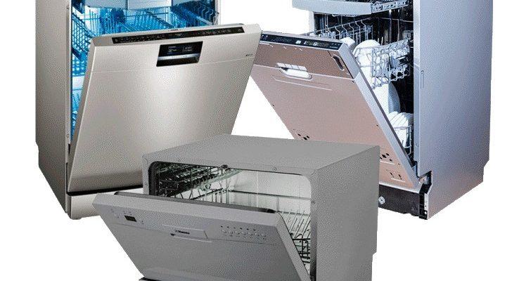Стандартные размеры разных моделей посудомоек
