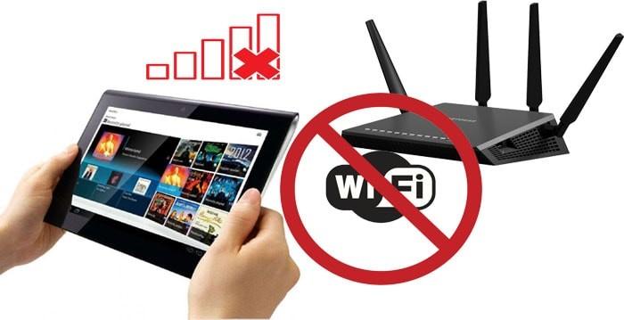 Проблема отсутствия беспроводного подключения может быть в планшете