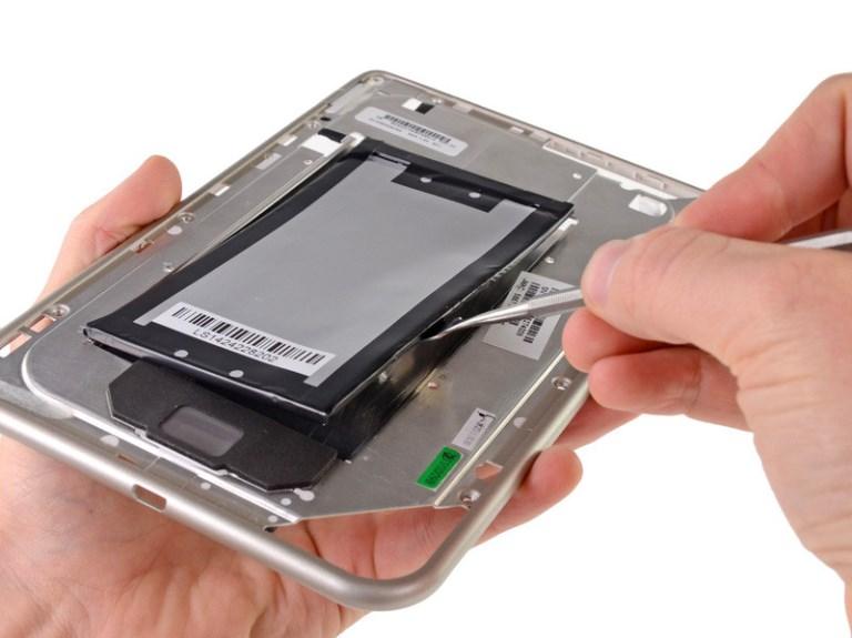 Износ батареи на планшете
