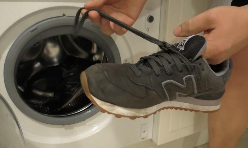 Подготовка обуви перед стиркой в стиральной машине