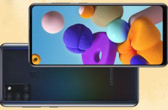 Краткий обзор смартфона Samsung Galaxy A21s