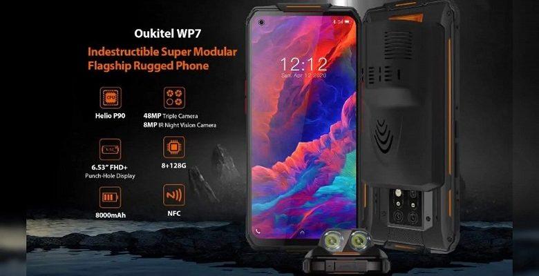 Представлен смартфон Oukitel WP7 с камерой ночного видения, мощной батареей и NFC