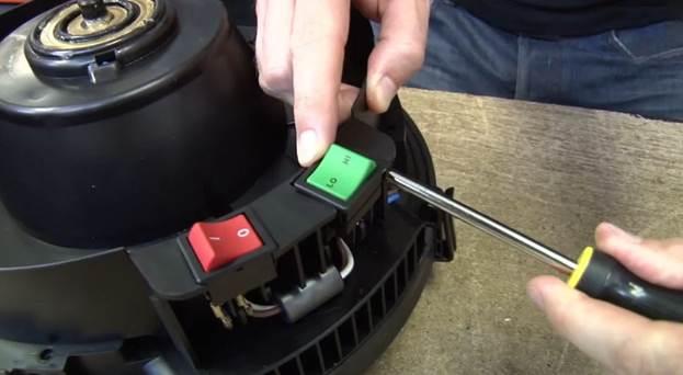 Разборка двигателя пылесоса