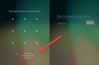 Что делать, если забыл графический ключ на Андроид