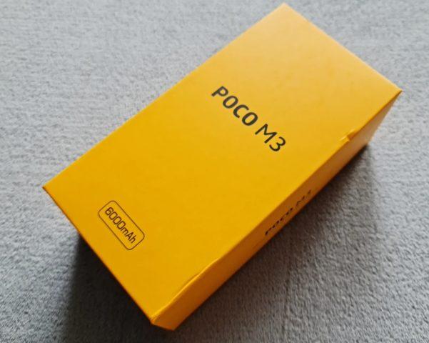 Xiaomi Poco M3 в коробке