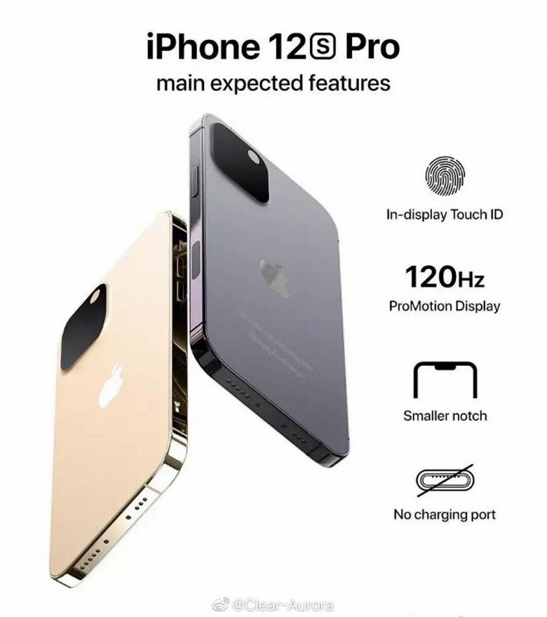 Дизайн iPhone 12s Pro