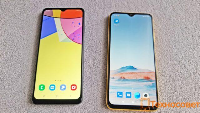 Экран Samsung Galaxy A12 и Xiaomi Poco M3