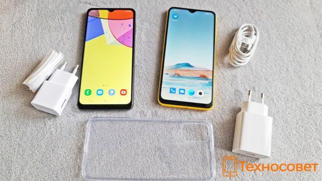 Комплектация телефонов Samsung Galaxy A12 и Xiaomi Poco M3
