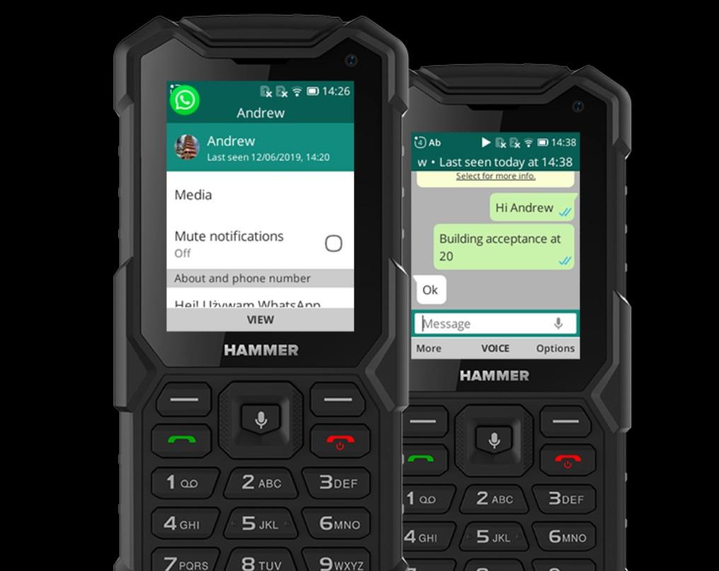WhatsApp на телефоне Hammer 5 Smart
