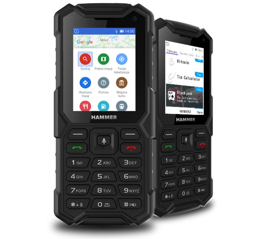 защищенный польский кнопочник Hammer 5 Smart с LTE, Wi-Fi и сервисами Google