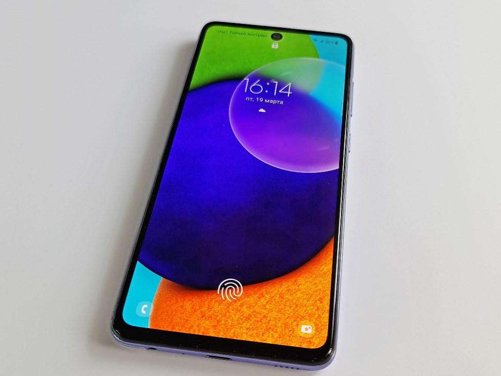 Сканер отпечатков пальцев Samsung Galaxy A52