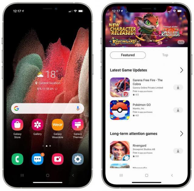 Один клик и iPhone превращается в смартфон Galaxy. Samsung выпустила тестовую оболочку для владельцев айфонов