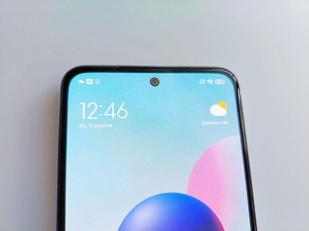 Фронтальная камера Xiaomi Redmi Note 10