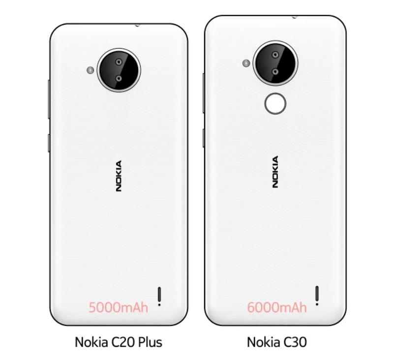 Nokia разошлась не на шутку: выходят смартфоны C20 Plus и C30 с батареей до 6000 мАч