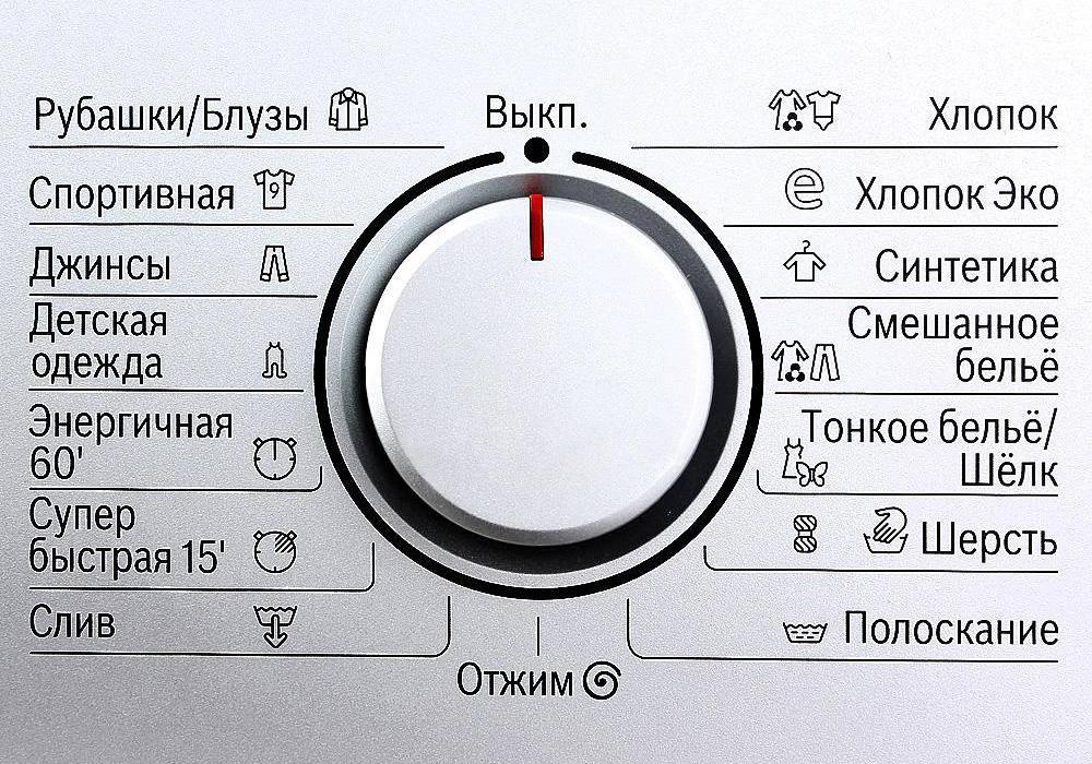 Обозначения на стиральной машине