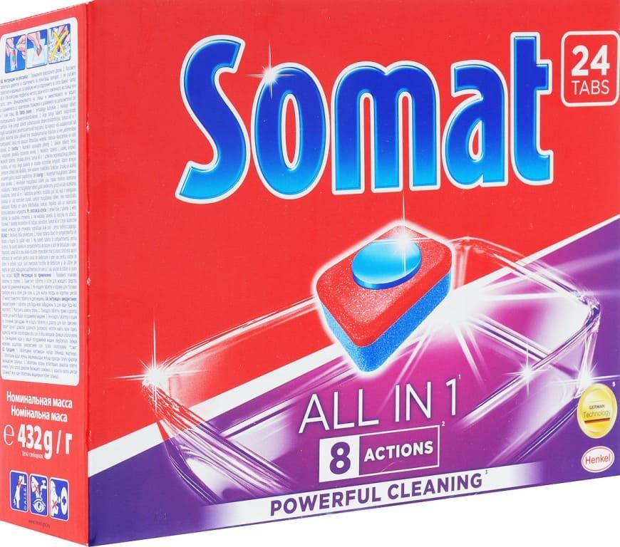 Таблетки Сомат для посудомоечной машины
